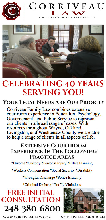 """This year, 2016 marks Corriveau Law's 40th Anniversary! We would like to say a very special """"thank-you"""" to our clients, staff, and all who have made these last 40 years golden."""