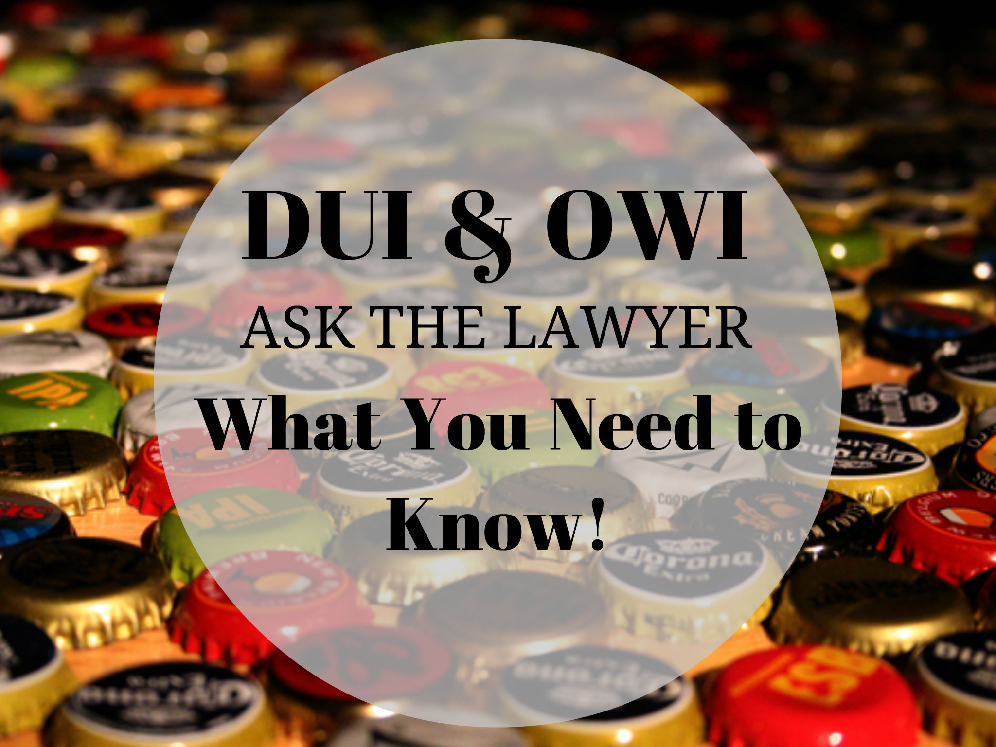How Much Do You Have to Drink (*BAC) For An OWI In Michigan? DUI and OWI - Ask the Lawyer; Here's what you need to know about drunk driving
