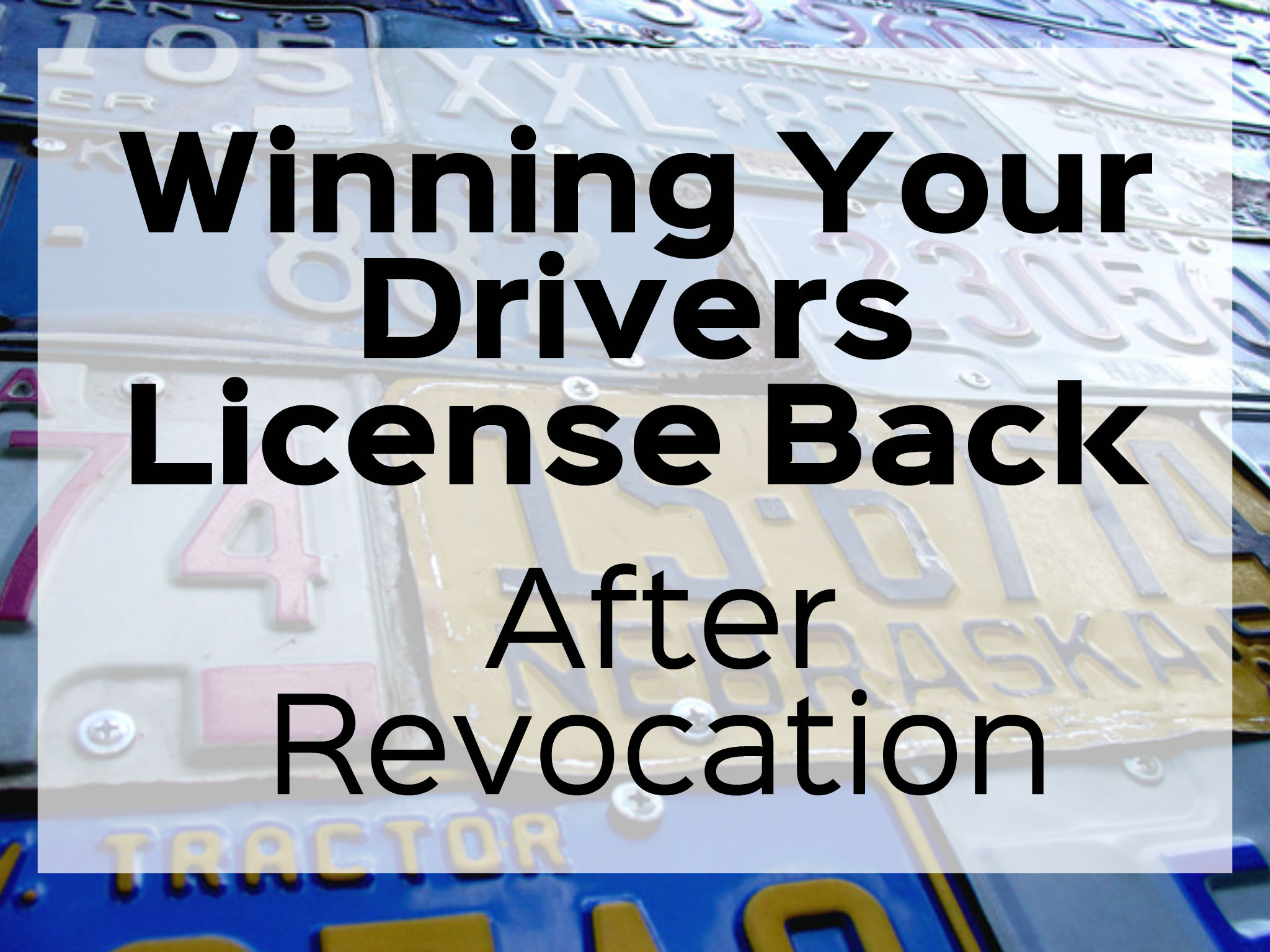 """If you have lost your driver's license following a conviction of an OWI let me start by saying winning your license back after having it revoked will have nothing to do with your 'need' for a license. Yes, while we all may 'need' a license to secure/maintain employment and provide transportation in the end, this 'need' will actually have very little to do with your actual ability to win your drivers license back.  Before you can ever win your license back, you have to be legally eligible to file a license restoration appeal. """"Eligibility"""" meaning legally able"""